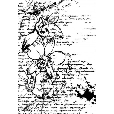 Memories4you -A6 Hintergrund Schrift-Blume
