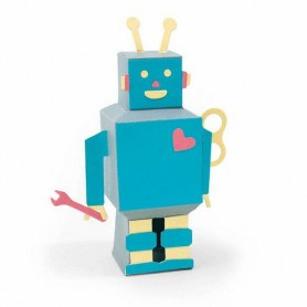 Sizzix Thinlits Die Set - 8PK 3-D Robot  Georgie Evans