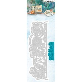 Studio Light Embossing Die 143 x 48 mm Ocean View nr.195