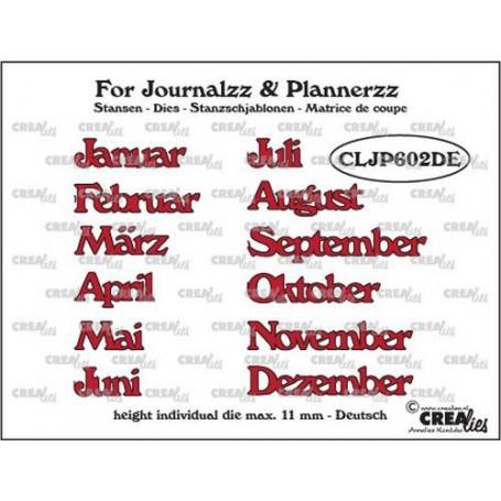 Crealies Journalzz & Pl Stansen Monate DE CLJP602DE max. height: 11 mm