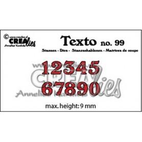 Crealies Texto Stansen Zahlen klein CLTX99 max. height: 9 mm