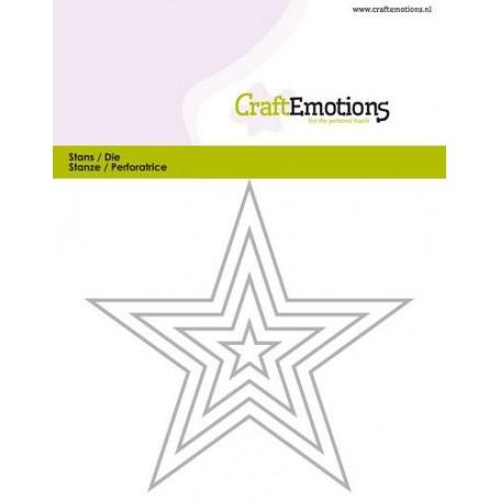 CraftEmotions Die - Borten 5 spitzen Stern Card 11x9cm - 1,5cm - 9cm