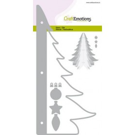CraftEmotions Die - Weihnachtsbaum 3D Card 10,5x14,8cm - 10,5cm - 14,5cm