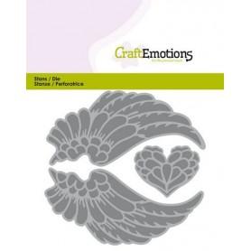 CraftEmotions Die - Flügel Engel Card 11x9cm - 3,8cm - 9cm