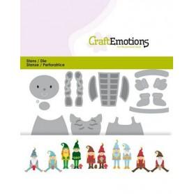 CraftEmotions Die - Weihnachtsgnom Card 11x9cm