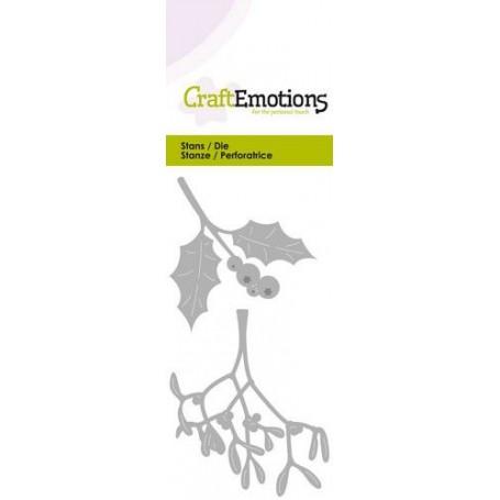CraftEmotions Die - Holly / Mistel Card 5x10cm