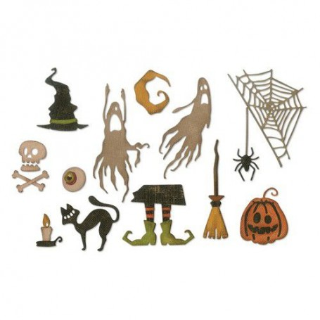 Sizzix Thinlits Die Set - 16PK Frightful Things