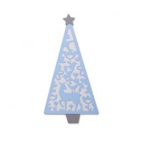 Sizzix Thinlits Die Set - 4PK Folk Christmas Tree  Lisa Jones