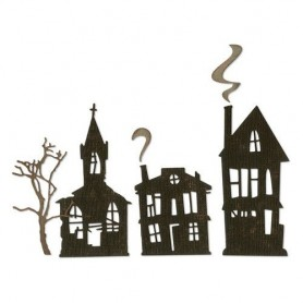 Sizzix Thinlits Die Set - 5PK Ghost Town 664194 Tim Holtz