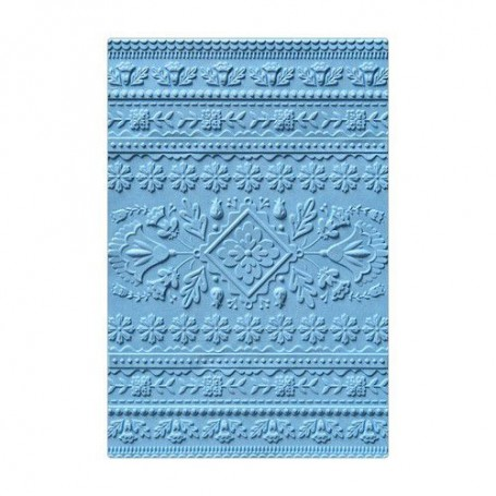Sizzix 3-D Textured Impressions Embossing Folder Folk Art Pattern  Courtney Chilson