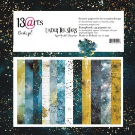 "Paper Collection Set 12""*12"" - Under the Stars by Aida Domisiewicz, 250 gsm (6 double-sided sheets, 12 designs)"