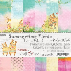 "Paper Collection Set 12""*12"" Summertime Picnic, 250 gsm (6 double-sided sheets, 12 designs)"