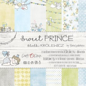 Paper Collection Set 20,3x20,3cm Sweet Prince, 190 gsm (10 double-sided sheets, 10 designs)
