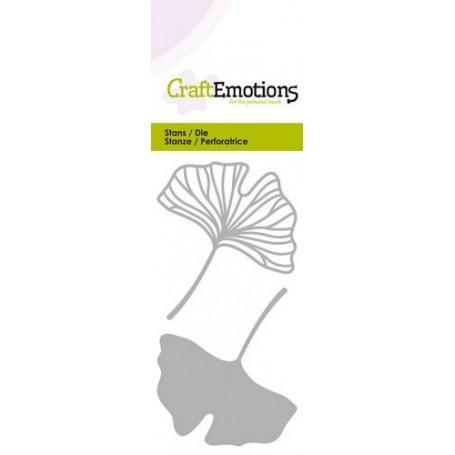 CraftEmotions Die - Ginkco Blätter offen und geschlossen Card 5x10cm