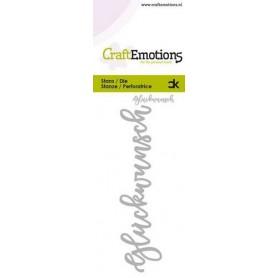 CraftEmotions Die Handletter - Glückwunsch (DE) Card 5x10cm