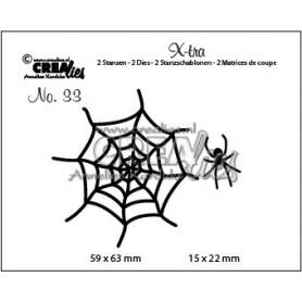 Crealies X-tra no. 33 Spinnennetz & Spinne 59 x 63 - 15 x 22 mm