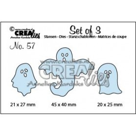 Crealies Set of 3 no. 57 Sprookjes  20 x 26 - 45 x 40 - 20 x 25 mm