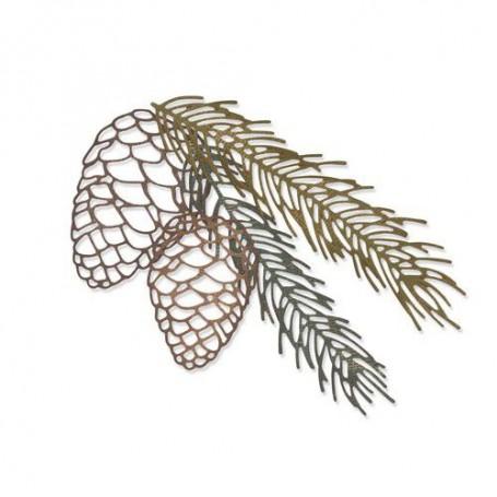 Sizzix Thinlits Die set - 4PK Pine Branch Tim Holtz