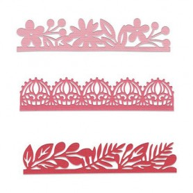 Sizzix Thinlits Die set - 3PK Decorative Edges Katelyn Lizardi