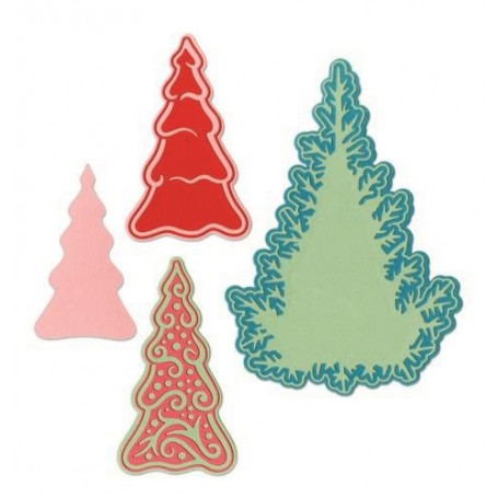 Sizzix Thinlits Die set - 7PK Fairy set - Background Trees  Jorli Perine