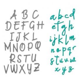 Sizzix Thinlits Die set - 2PK Alphabet set - Emily Tootle