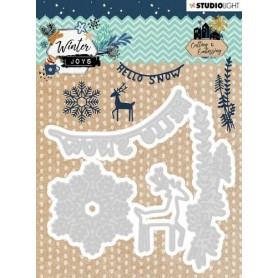 Studio Light Embossing Die Winter Joys nr 229  103x101mm