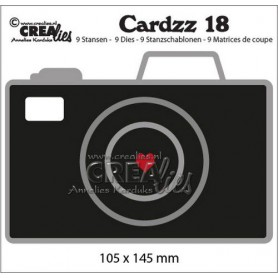 Crealies Cardzz no 18 Camera 105x145mm