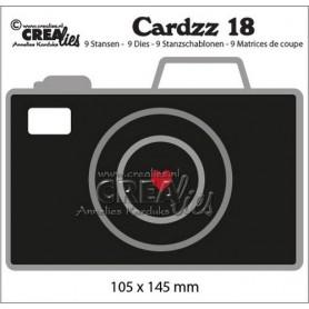 Crealies Cardzz no 18 Camera 105x145mm