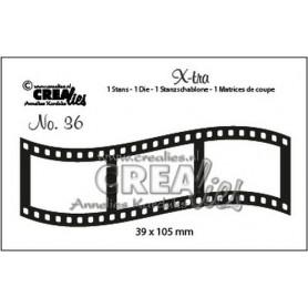 Crealies X-tra no. 36 Curved Filmstreifen Medium