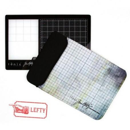 Tonic Studios Tools - Travel Glass media mat (40,0x26,0cm) Linkshänder 2632e Tim Holtz