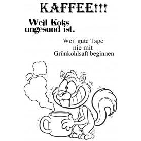 """Memories4you Stempel (A6)  """"Eichhörnchen Kaffee"""""""