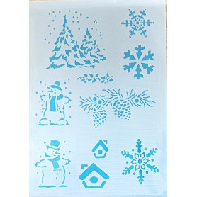 Memories4you - Sticky Stencil A5 Wintermotive