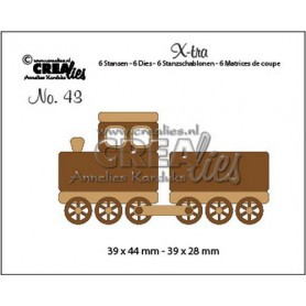 Crealies X-tra no. 43 Zug + Wagen (Small) CLX-tra43 39x44mm - 39x28mm