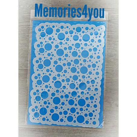 """Memories4you Stencil (A4) """"Kreise"""""""