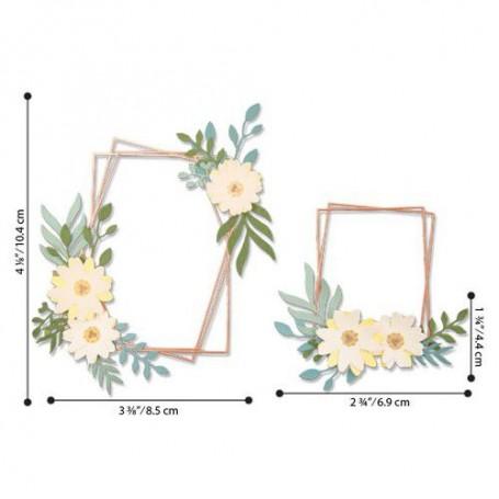 Sizzix Thinlits Die Set - 12PK Geo Floral Frame  Lisa Jones