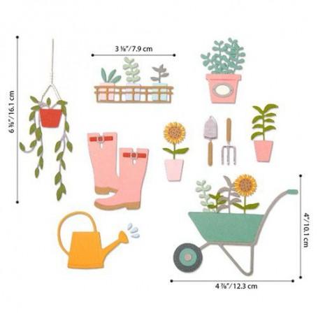 Sizzix Thinlits Die Set - 23PK Garden Shed  Sophie Guilar