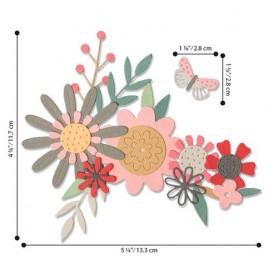 Sizzix Thinlits Die Set - 17PK Bold Flora  Sophie Guilar