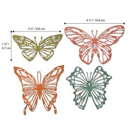 Sizzix Thinlits Die Set - 4PK Scribbly Butterflies 664409 Tim Holtz