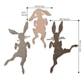 Sizzix Thinlits Die Set - 3PK Bunny Hop  Tim Holtz