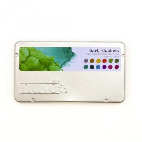 Nuvo watercolour pencils - dark shadows 524N