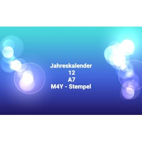 M4Y Jahreskalender 12 A7 Stempel