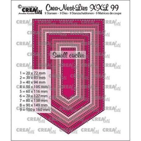Crealies Crea-Nest-Lies XXL Flagge mit kleinen Löchern