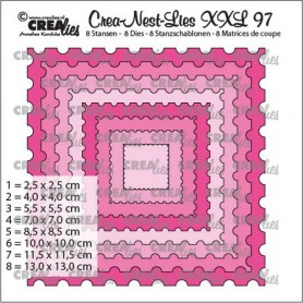 Crealies Crea-Nest-Lies XXL Stempel quadratisch (8x)