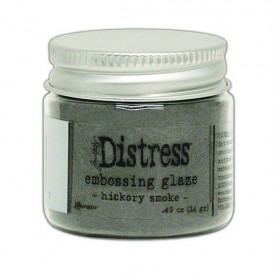Ranger Distress Embossing Glaze Hickory Smoke  Tim Holtz