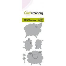 CraftEmotions Die - Sheep - Schafe Card 5x10cm