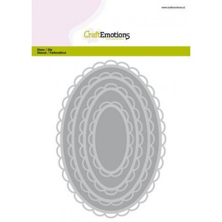 CraftEmotions Big Nesting Die - offenes ovales Skalpell XL Card 150x160 6,8-15,0cm