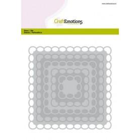 CraftEmotions Big Nesting Die - Quadrate Scalop XL oval Card 150x160 6,8-15,0cm
