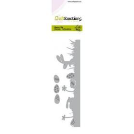 CraftEmotions Die - Bunny 1 - Gras mit Eiern Card 5x15cm