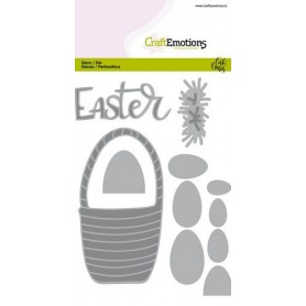 CraftEmotions Die - Easter - Osterkorb mit Eiern Card 10,5x14,8cm