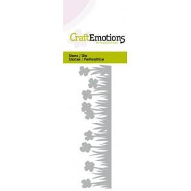 CraftEmotions Die - Grasrand Klee Card 5x10cm